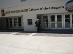 Janice Green Smith in front of the   Bob Tuttle Gym  Hope you enjoyed walking the halls of Ventura High School with the