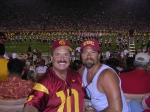 Bill Bigler & son Billy, half time at USC game, Sept. 2007